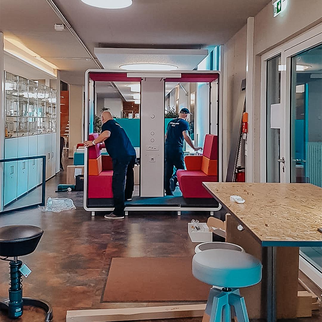 Magentafarbener Meeting Cube von Mikomax Smart Office von Büroland