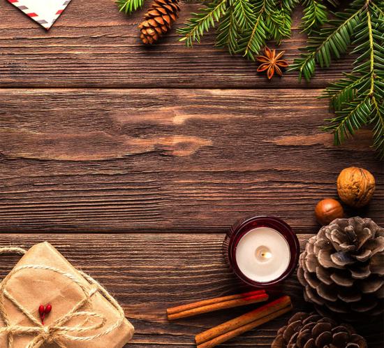 Bild mit Weihnachtsdeko von büroland