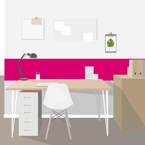Grafik mit Homeoffice Schreibtisch von Büroland