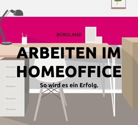 Homeoffice Arbeitsplatz mit Überschrift