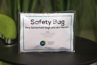 Safety Bag mit Hygieneartikeln für Sicherheit