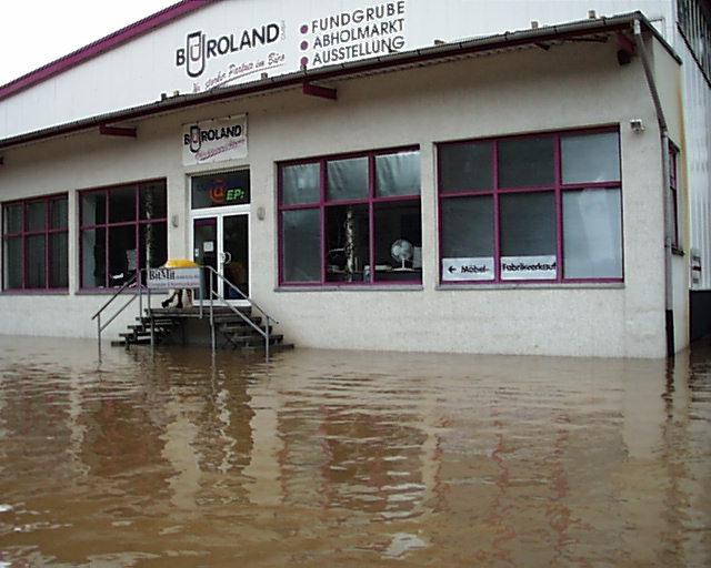Büroland Chemnitz Hochwasser 2002