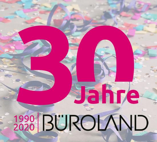 Büroland feiert 30 Jahre
