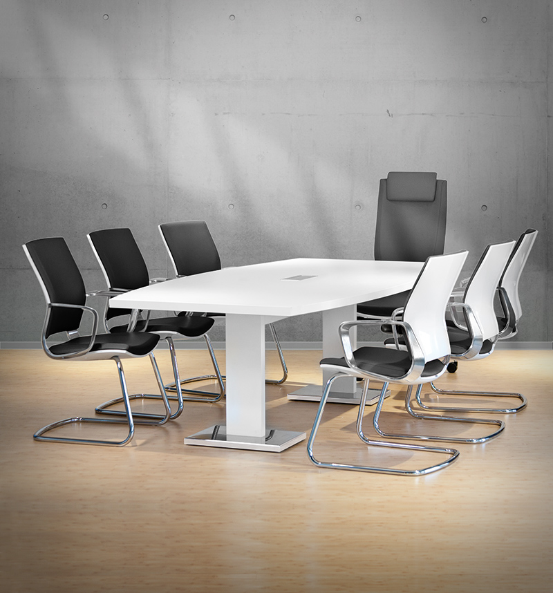 Büroland höhenverstellbarer Tisch für Meetings von Leuwico